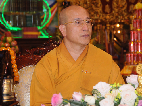 Thich Truc Thai Minh, head monk of Ba Vang Pagoda. Photo by VnExpress/Viet Tuan