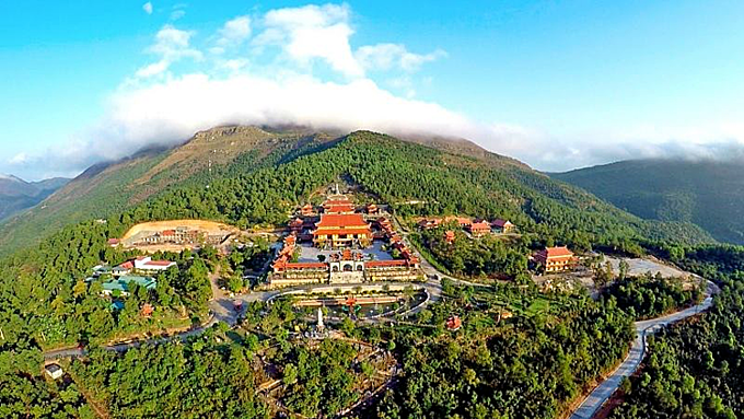 Ba Vang Pagoda in Quang Ninh Province. Photo by VnExpress/Minh Cuong