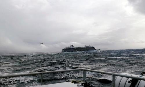 Passengers airlifted from crippled cruise ship in storm off Norway