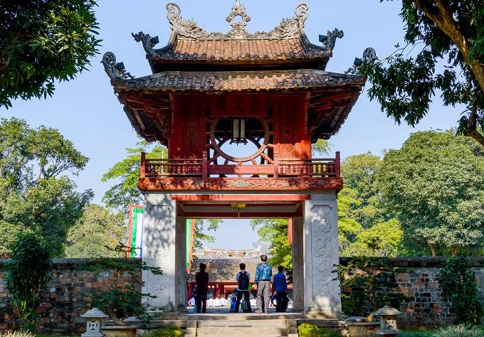 The Temple of Literature Van Mieu in Hanoi. Photo by Shutterstock/Mikhail Gnatkovskiy.