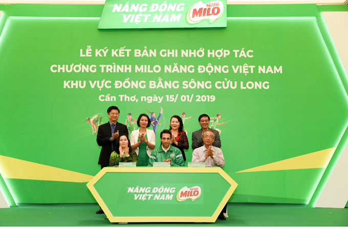 Nestlé Milos Activ Vietnam program has expanded to Mekong Delta area this year.