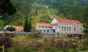 French colonial-era power plant near Da Lat now a tourist attraction