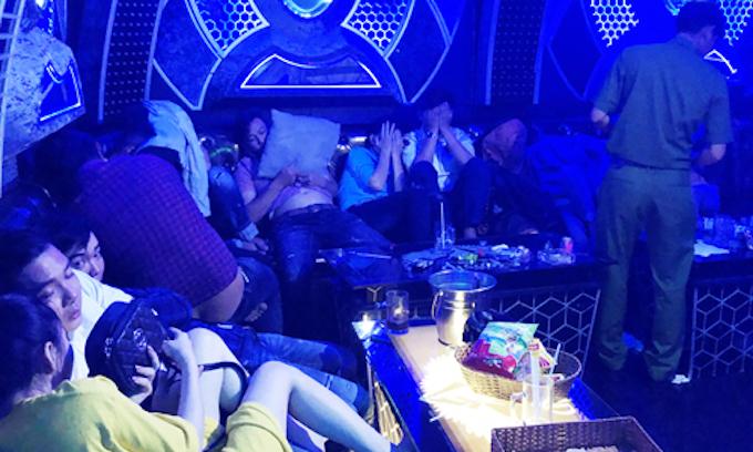 Karaoke parlor raid nets 96 people using drugs in Vietnam