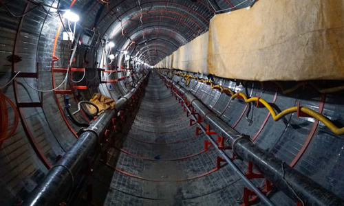 Saigon's biggest underground sewer digs deep