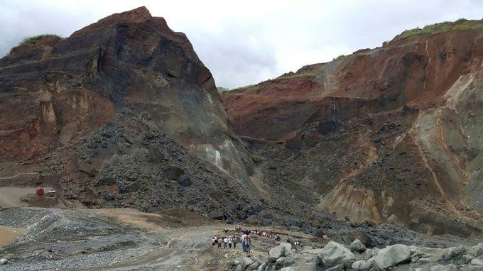 More than 50 feared killed in landslide at Myanmar jade mine