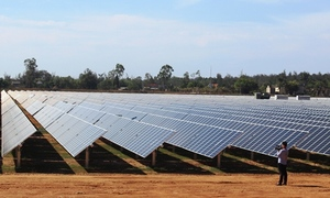 Long-delayed solar power plant opens in central Vietnam