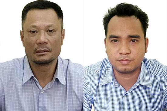 Vu Nhat Tuan (L) and Tran Van Danh