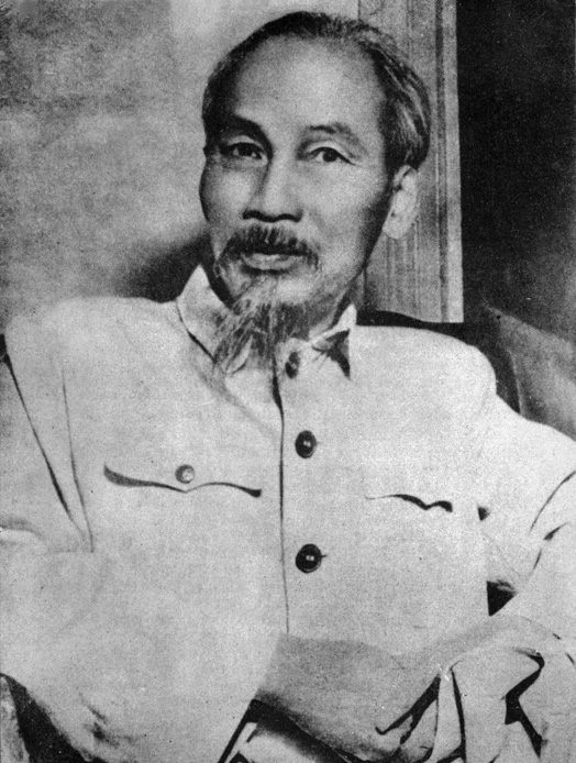 A photo of President Ho Chi Minh that journalist Wilfred Burchett always kept with him.
