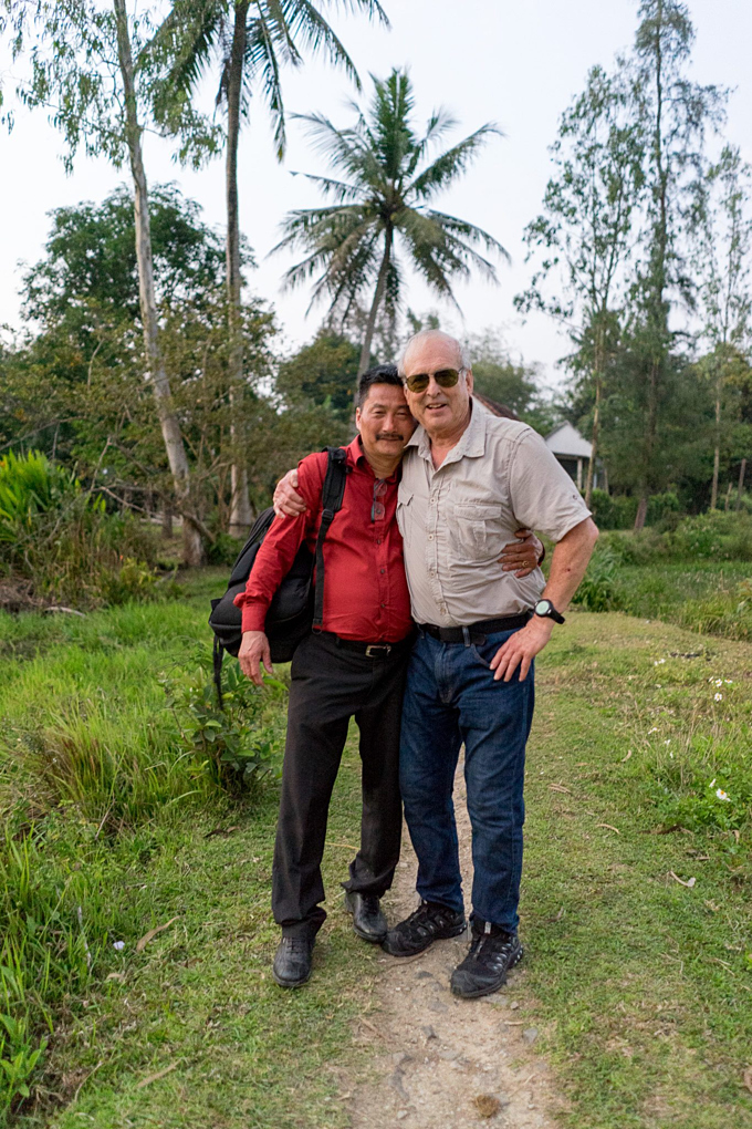 Duc and Haeberle at My Lai on the occasion of the 50th anniversary of the My Lai massacre last year. Photo courtesy of Ronald L. Haeberle.