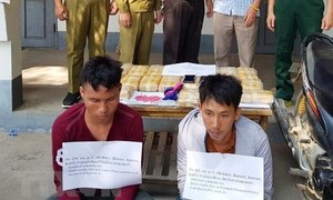 Two Lao men crossing into Vietnam with 120,000 ecstasy pills nabbed