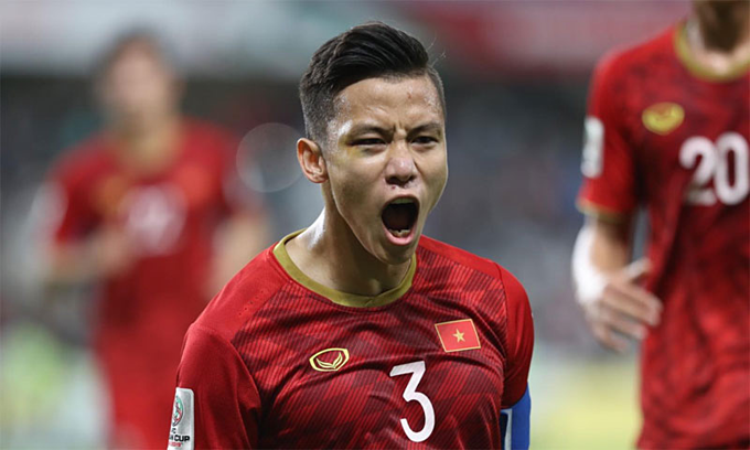 Que Ngoc Hai, the captain of Vietnam national football team in Asian Cup 2019. Photo courtesy of Asian Football Confederation.