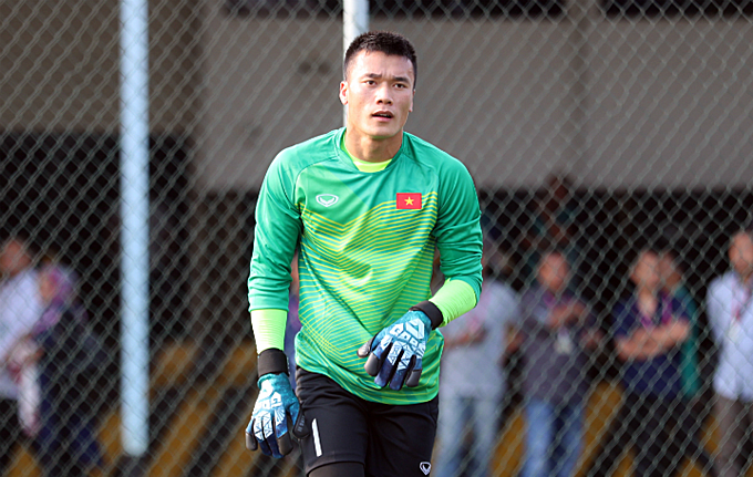 Bui Tien Dung in a training in Asian Games 2018. Photo by VnExpress/Duc Dong.