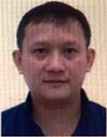 Bui Quang Huy, 45, general director of Nhat Cuong Technical Services Trading Co. Ltd. in Hanoi, is wanted by the police for smuggling
