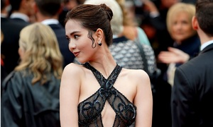 Model's barely-there Cannes dress arouses strong opinions