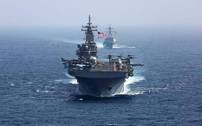 US, Japan, S.Korea, Australia hold first naval drills in Western Pacific
