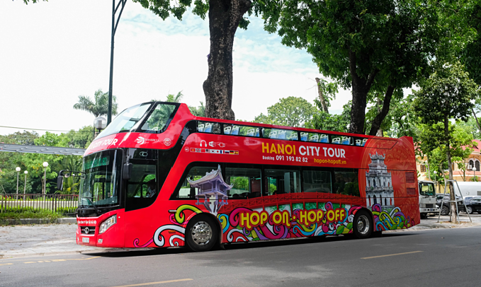 Hanois double-decker bus. Photo by VnExpress/Anh Trung