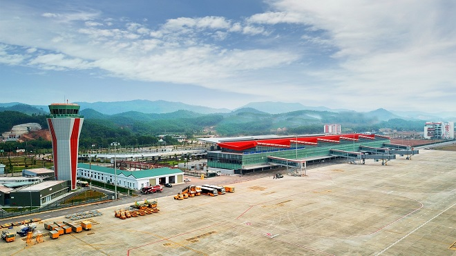 A corner of the Van Don International Airport in the northern province of Quang Ninh.