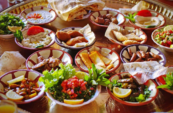 Traditional Cold & Hot Mezze.