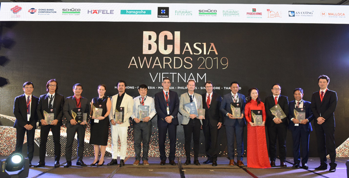 From left to right: Mr Vo Chi Anh (BCI Asia),  Mr Vu The Anh (Alinco), Marine Ros (Archetype),  Mr Bui Ngoc Lam (Archivina),  Ms Marine Ros (Archetype), Mr Cung Thanh ĐatDat (BE),  Mr Truong Huy ĐaiDai (DAC), Tran Song Son (DP Consulting), Le Nguyen Huong Giang (GK Archi), Nguyen Thi Tuyet Mai (Mai-Archi), Ngo Quan Hien (NQH), Henrik Folkar (PTW),  Mr George Georgiou (Cong Bang – Sekisui Foam), Robert Krups (BCI Asia), Mr Henrik Folkar (PTW), Dr Matthias Krups (BCI Asia ), Mr Ngo Quan Hien (NQH), Ms Nguyen Thi Tuyet Mai (Mai-Archi ), Mr Nguyen Trung Kien (GK Archi), Mr Tran Song Son (DP), Mr Robert Krups (BCI Asia).