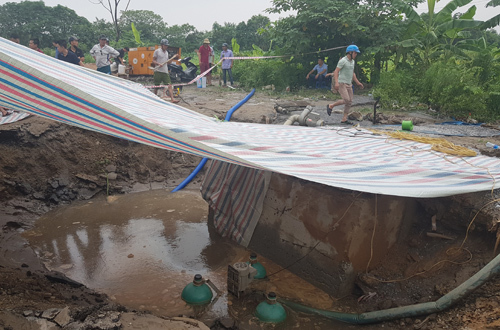 Broken pipeline may cut water supply to downtown Hanoi