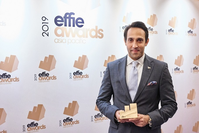 Ali Abbas, Head of Dairy Business, Nestlé Vietnam, at APAC Effie Awards 2019 ceremony.