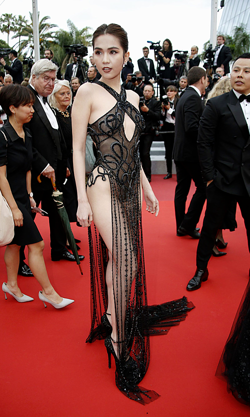 Vietnamese model Ngoc Trinh arrives at the 72nd Cannes Film Festival Cannes, France, on May 19, 2019. Photo by Reuters/Jean-Paul Pelissier
