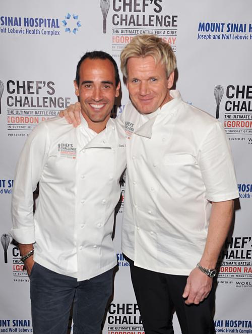 ChefsDavid Rocco and Gordon Ramsay.
