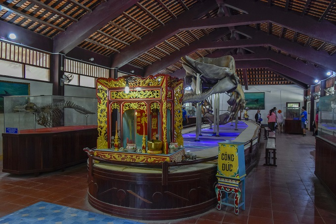 The altar to worship the Lord Whale in a temple on Phu Quy Island, Binh Thuan Province. Photo by Dang Le