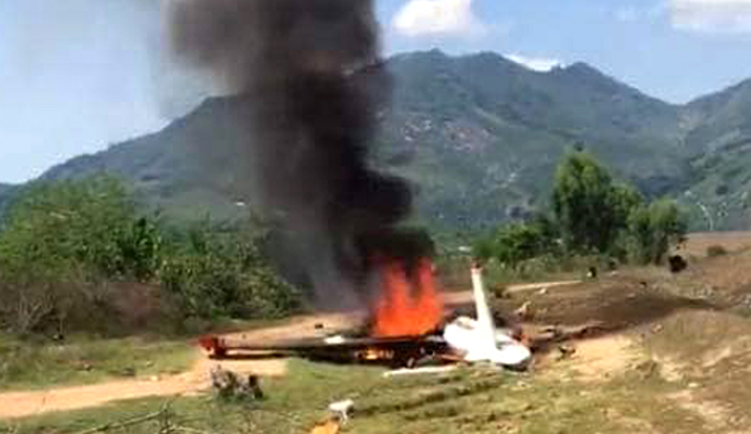 Military aircraft crashes in central Vietnam, two killed