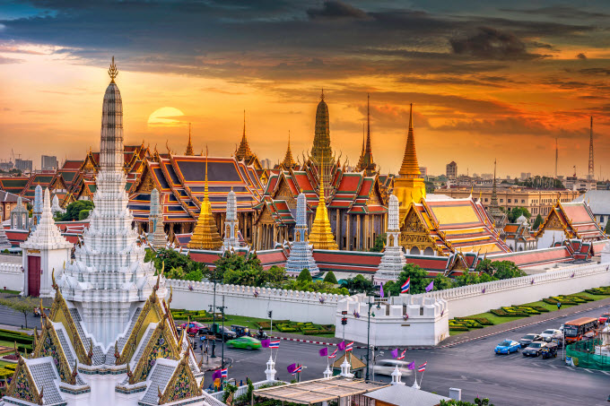 The Grand Palace in Thailand. Photo by Shutterstock/Huy Thoai