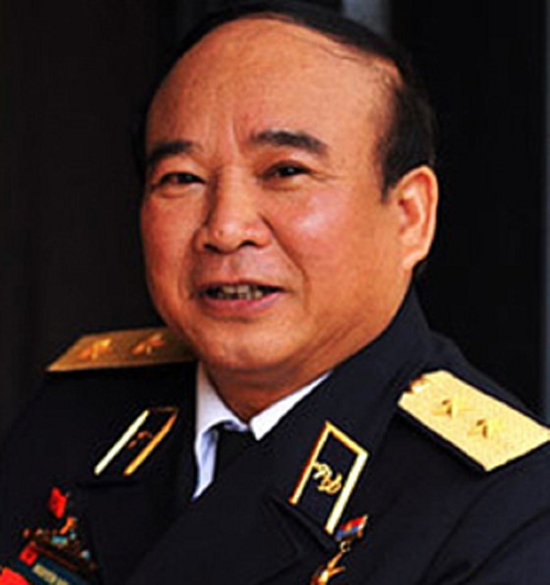 Vice Admiral Nguyen Van Tinh has received an official warningfor violating regulations on using defense land. Photo by Tran Viet Van