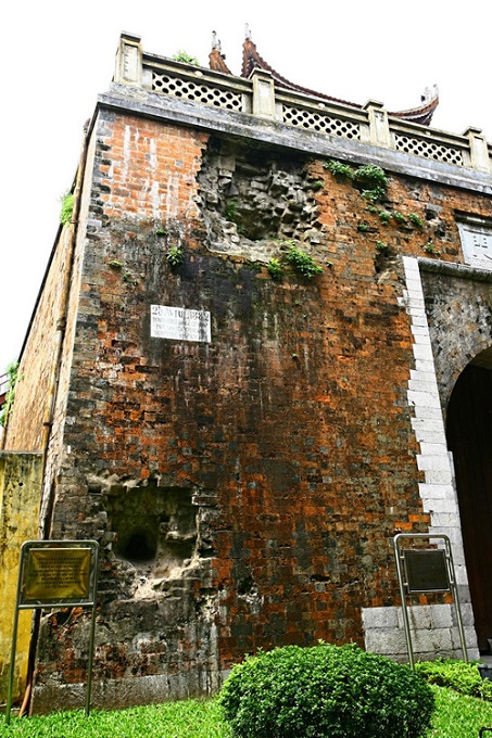 Ancient gate in Hanoi wears scars of 19th century cannon attack