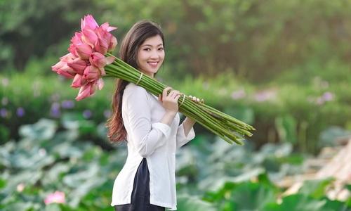 Lotus season attracts selfie bees