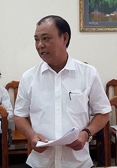 Le Tan Hung, dismissed CEO of the state-owned Saigon Agriculture Corporation. Photo by Ho Chi Minh City Law Newspaper.