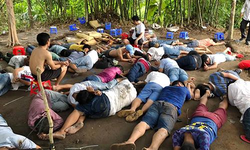 100 arrested in Vietnam cockfighting busts