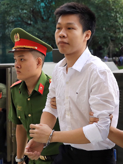 Tran Long Phi at the court in Ho Chi Minh City.