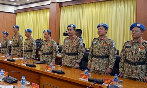 Seven more Vietnam military officers to join UN peacekeeping forces