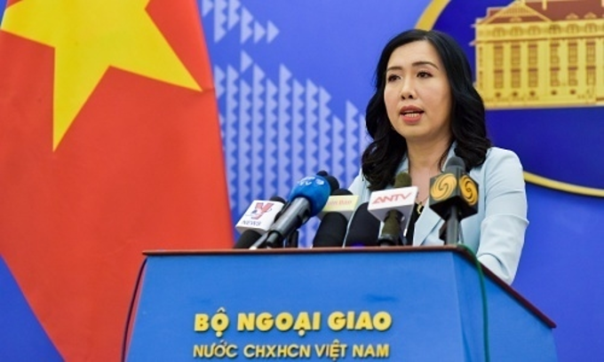 Ministry of Foreign Affairs spokeswoman Le Thi Thu Hang. Photo courtesy of the foreign ministry.