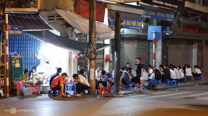 A glimpse of the street stall. Photo by Lan Huong