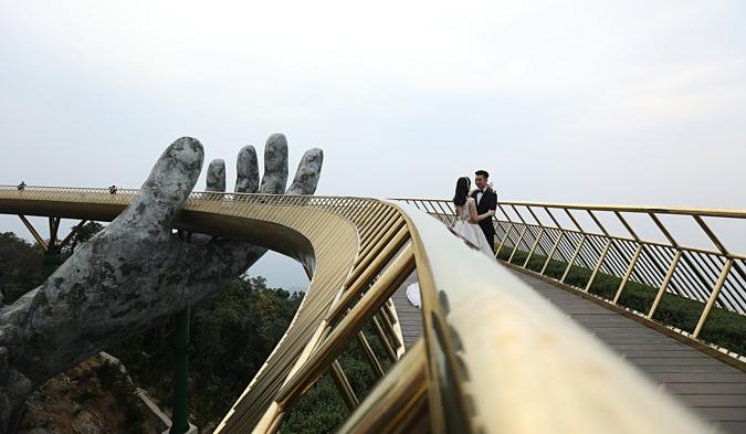 Golden Bridge in Ba Na Hills.