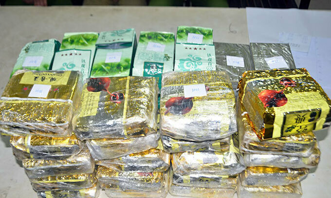 Four arrested with 46 kg of drugs trafficked from Laos