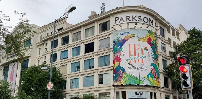 Parkson Saigon Tourist Plaza in District 1, HCMC. Photo by Nafi Wernsing.