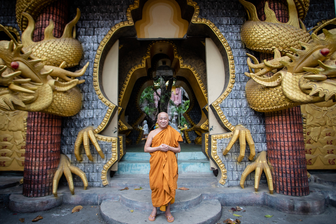 Door-less stone pagoda in Saigon - 1