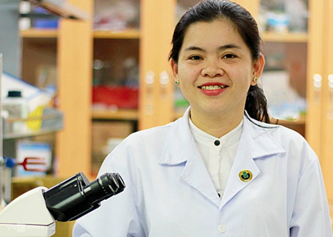 Nguyen Thi Hiep, head of the biomedical engineering department at International University, Vietnam National University Ho Chi Minh City. Photo by VnExpress/Duc Toan