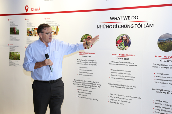 Ian Johnson, factory manager of Nestlé Vietnam introduced Nestlé Plan.