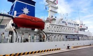 Japanese Coast Guard vessel berths in central Vietnam port