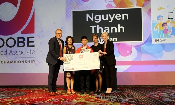 Vietnamese student wins People's Choice award at international graphic design contest