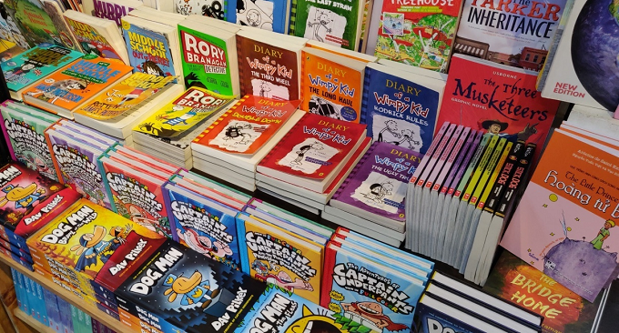 Childrens comic books. Photo by Nafi Wernsing.
