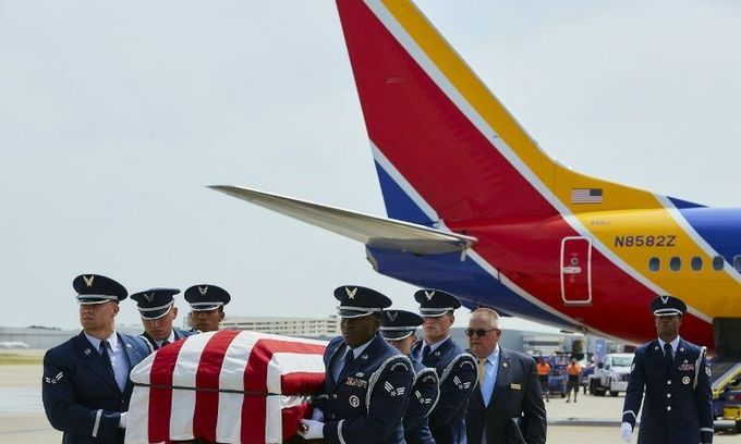 Son flies father's remains home 52 years after he died in Vietnam War