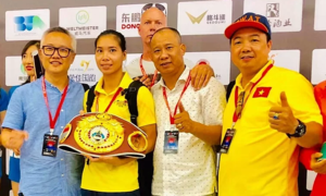 Boxer wins championship belt in her first professional fight